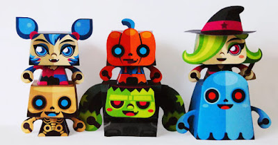 Halloween paper toys printable