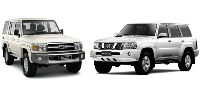 Nissan Patrol Y61 и Toyota Land Cruiser 70