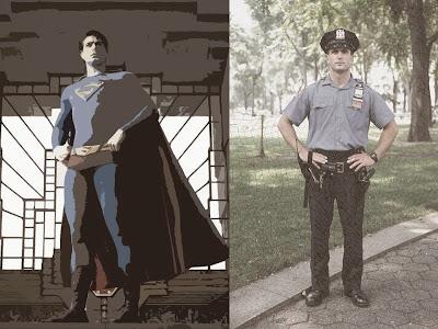 superman and policeman