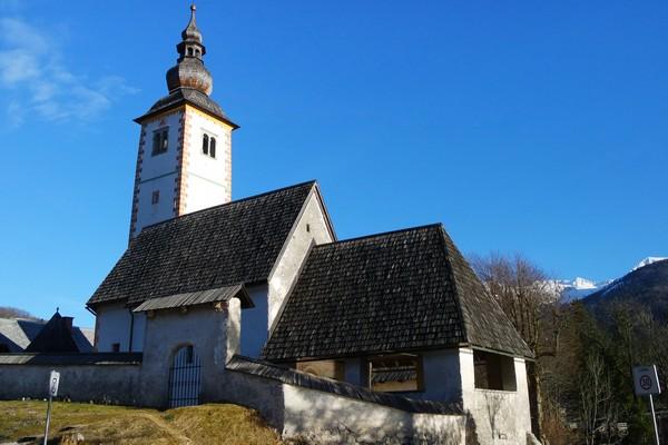 slovénie lac bohinj église saint-jean baptiste