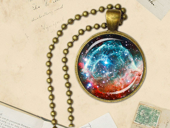 Etsy pendant space necklace galaxy jewelry Universe pendant