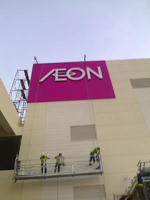 bảng hiệu siêu thị AEON