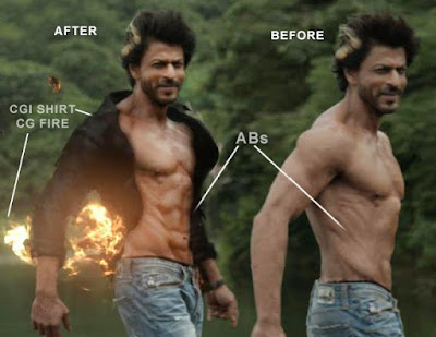 shahrukh khan abs vfx effect