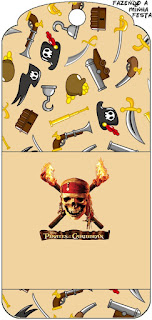 Pirates of the Caribbean Free Printable Tags.