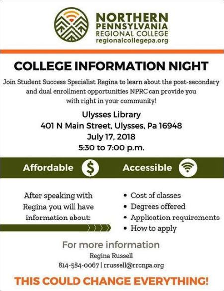 7-17 North PA College Info Night