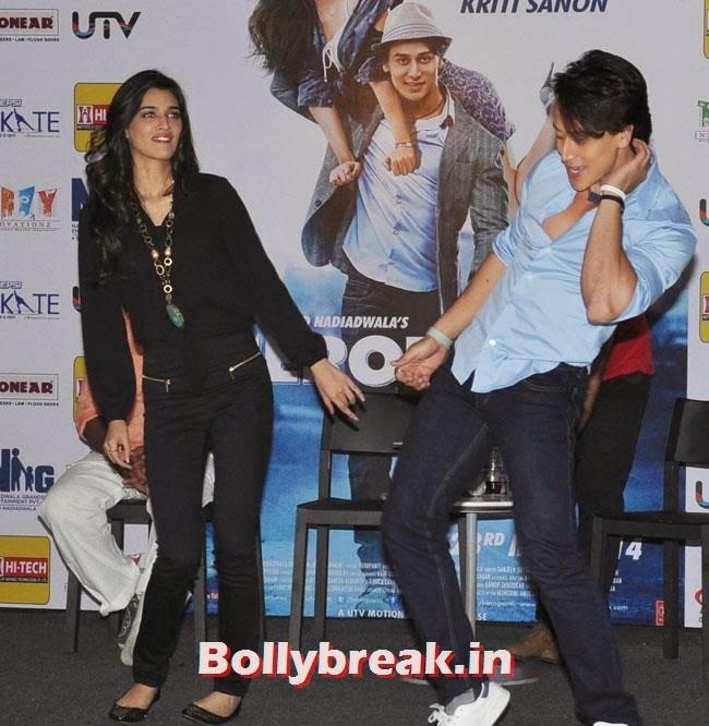 Kriti Sanon and Tiger Shroff, Kriti Sanon and Tiger Shroff at Heropanti Promotion in Gurgaon Events