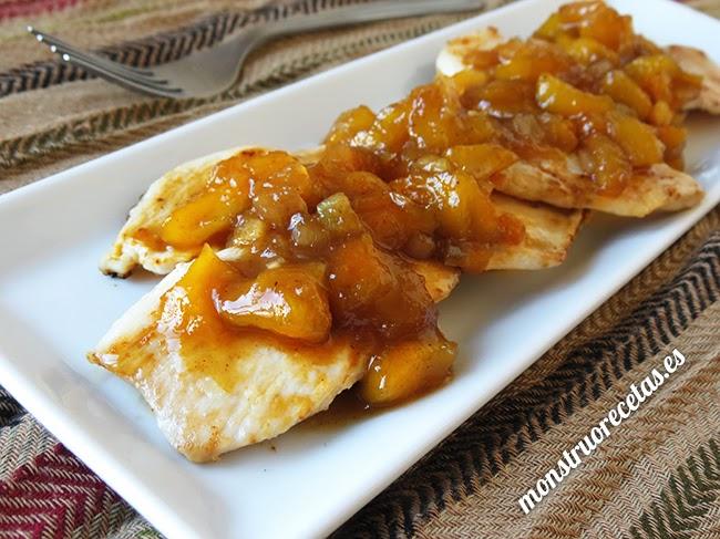 Pollo con chutney de mango