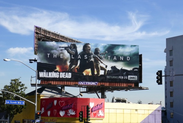 Walking Dead midseason 8 billboard