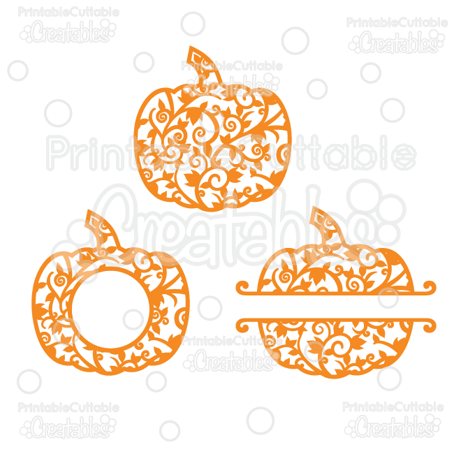 Free pumpkin set of silhouette design files silhouette for Monogram pumpkin templates