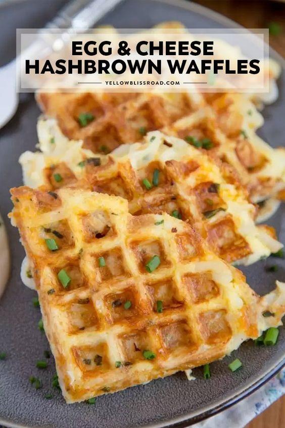 Egg & Cheese Hash Browns Waffles