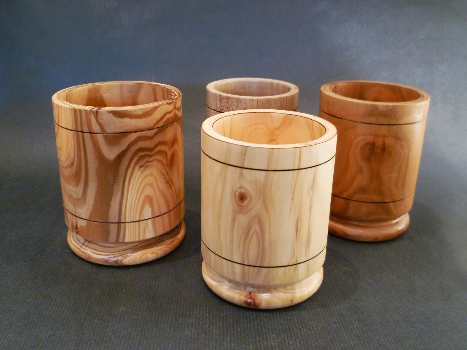 atelier du bois tourn woodturning design 4 pots crayon. Black Bedroom Furniture Sets. Home Design Ideas