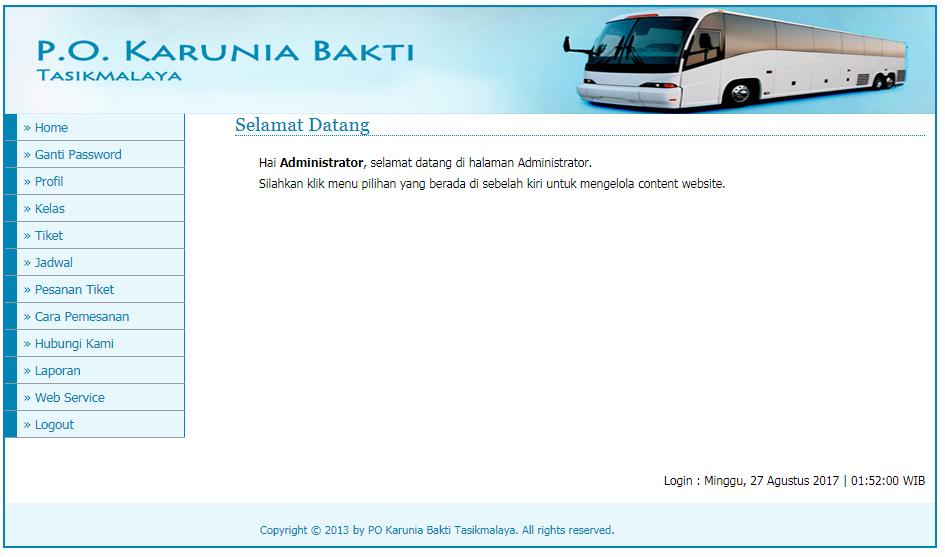 Free Download Contoh Tiket Online Bus Php Mysql