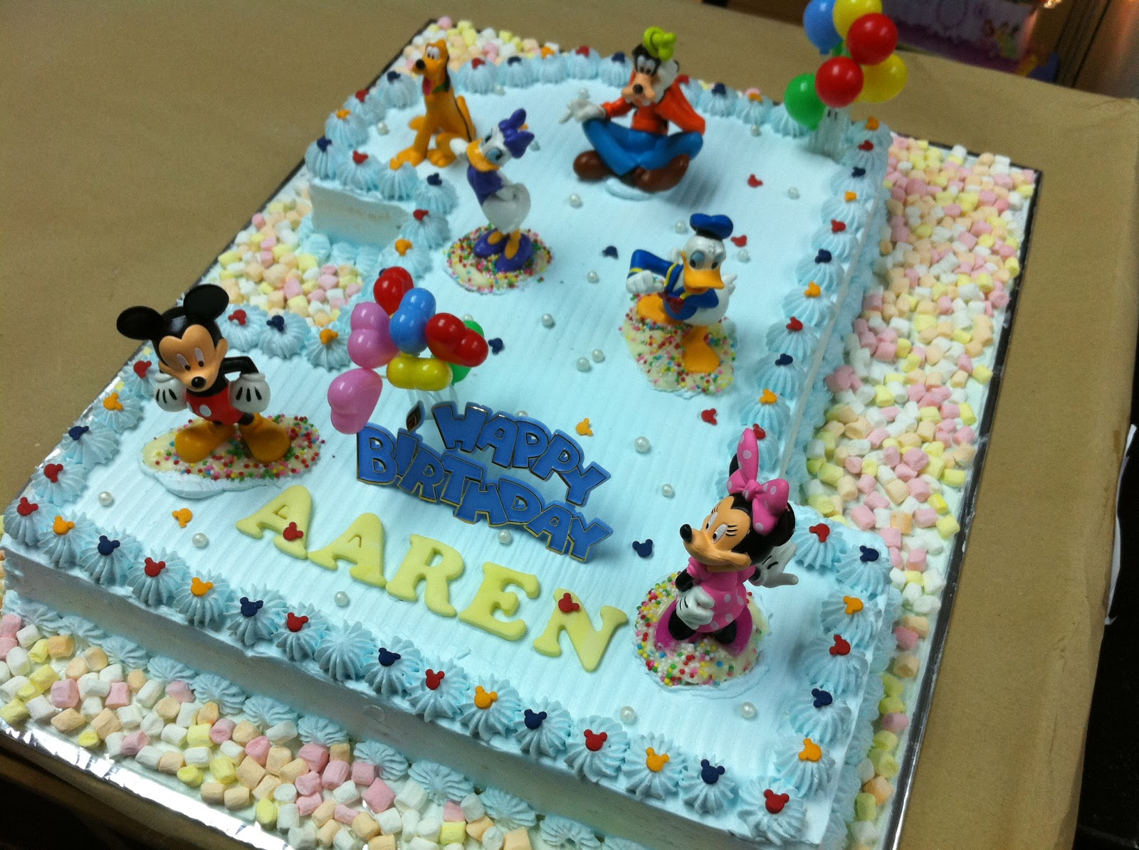 Haven Bakery Baby Aaren 1st Birthday Cake