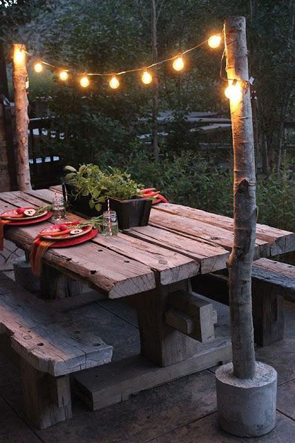 Inspiração de decoração com madeira rústica