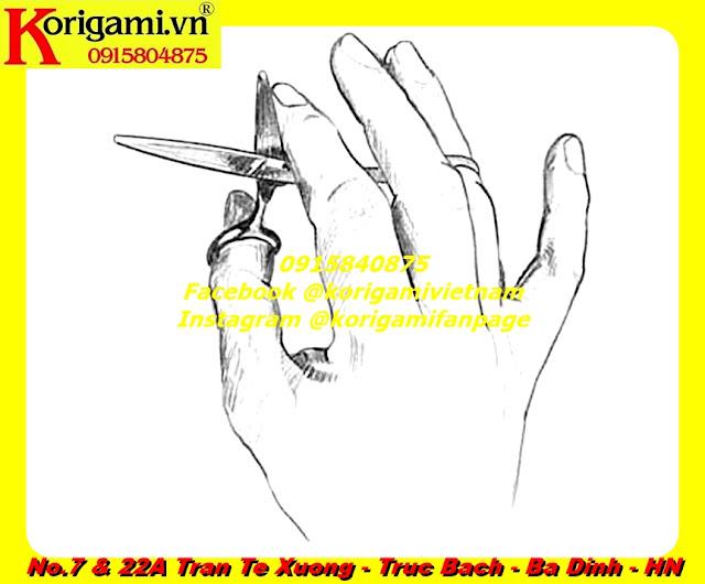 Hướng dẫn các thao tác cắt kéo căn bản (giả lập mô hình tóc bằng tờ giấy...
