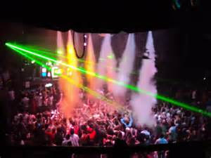 Co2 Theatrical Cryogenic Special Effects Jets hanging from a Nightclub
