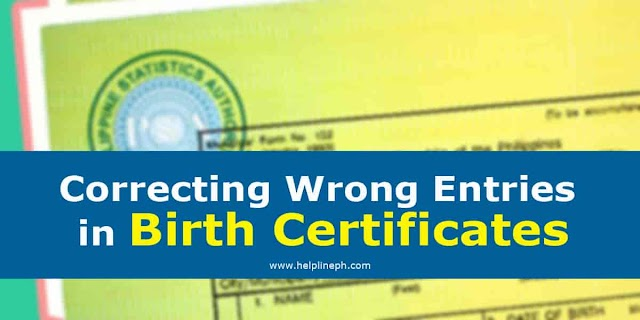 Correcting Wrong Entries in Birth Certificates