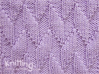 Alternating Diagonals Knitting Stitch Patterns