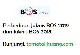 Perbedaan Juknis BOS Tahun 2019 dan Juknis BOS Tahun 2018 SD SMP SMA SMK, tomatalikuang.com
