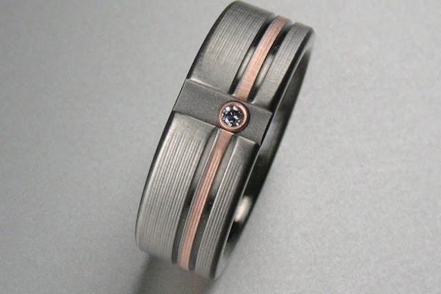 Mens Wedding Rings Rose Gold