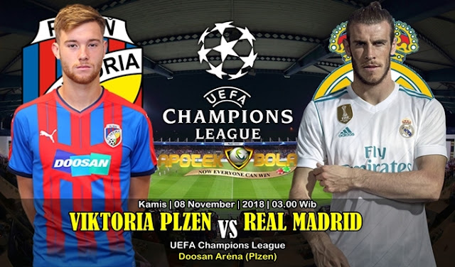 Prediksi Plzen Vs Real Madrid 08 November 2018