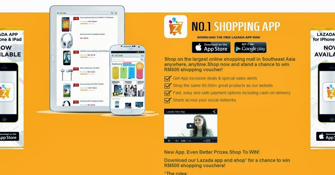 Lazada online shopping is available in Android and iOS ...