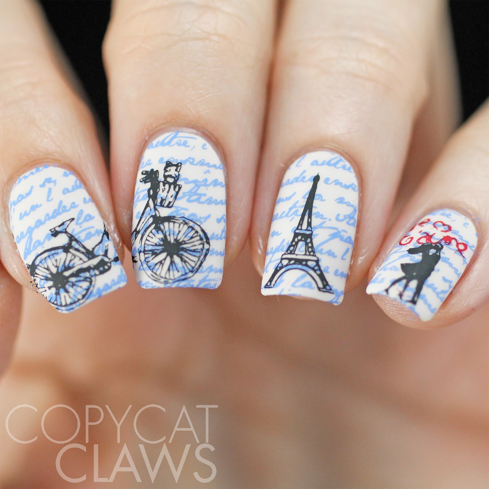Copycat Claws Uberchic Beauty Paris In Love Stamping Plate