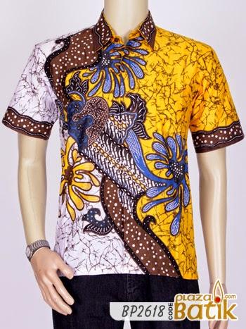 Baju Batik Batik Cowok Batik Pria Kemeja Laki Laki Bahan Dobby