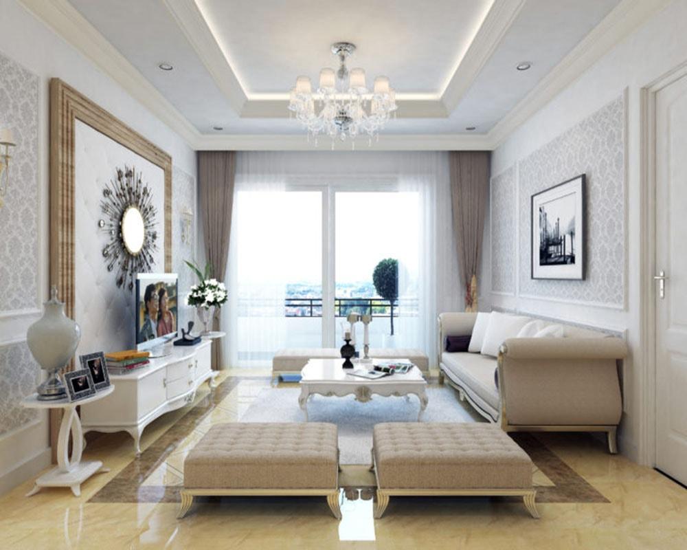 Phòng khách căn hộ 4 ngủ Goldmark City