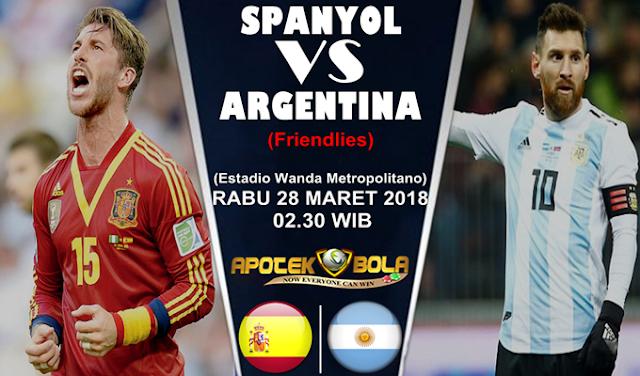 Prediksi Spanyol vs Argentina 28 Maret 2018