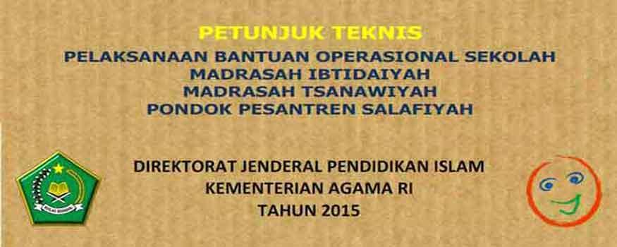 Revisi Petunjuk Teknis Bantuan Operasional Sekolah (BOS) 2015