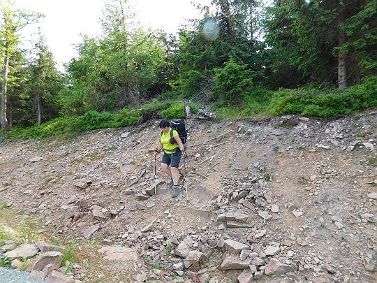 Nad tą skarpą znajduje się ścieżka na północną Jagodną.