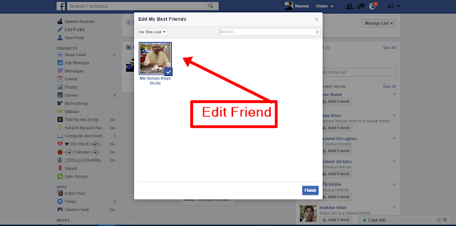 Create Facebook Friends Lists here