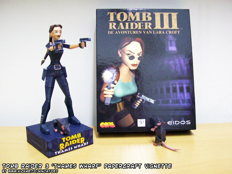 Tomb Raider 3 Papercraft London Outfit