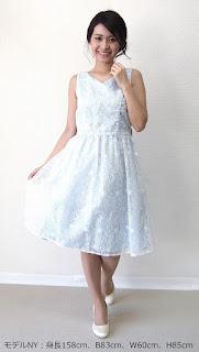 オーガンジー刺繍ドレス