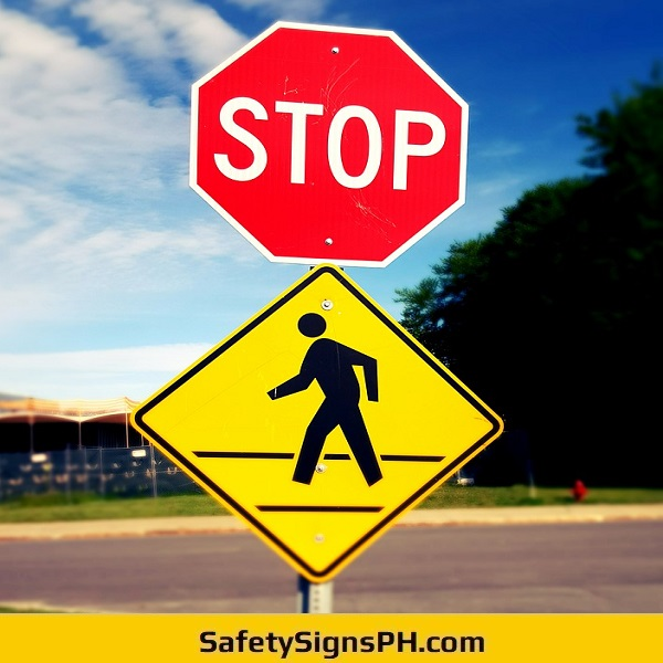 Stop Pedestrian Crossing Sign Philippines