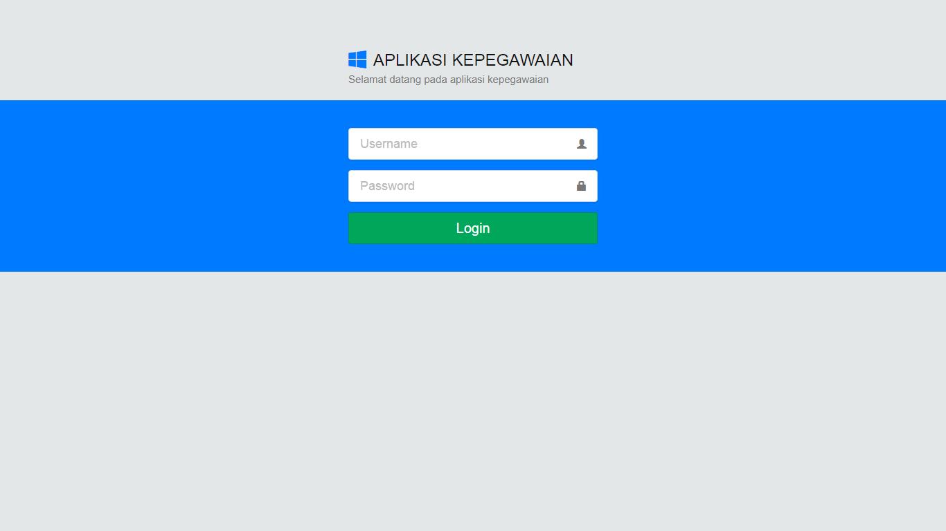 Aplikasi Kepegawaian - SourceCodeKu.com