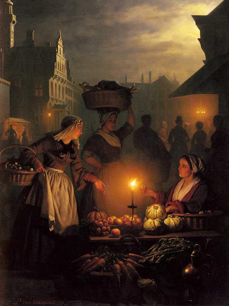 Mercado Noturno - Petrus van Schendel ~ Especialista em cena noturna