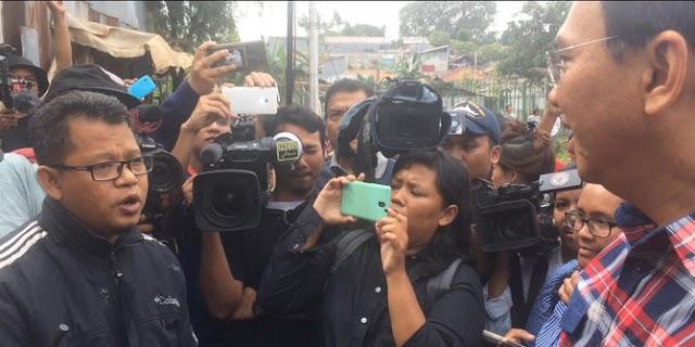 Memanas, Ahok Dihadang dan Adu Mulut Dengan Ketua FPI Saat Kampanye di Jati Padang