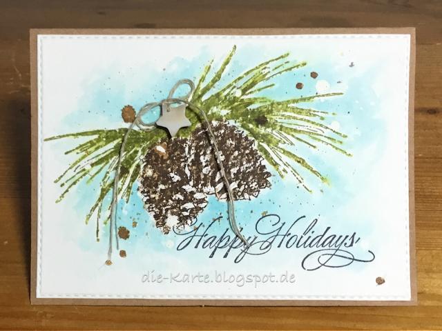 """brush pines"" Penny Black, ""berry merry christmas"" Penny Black"
