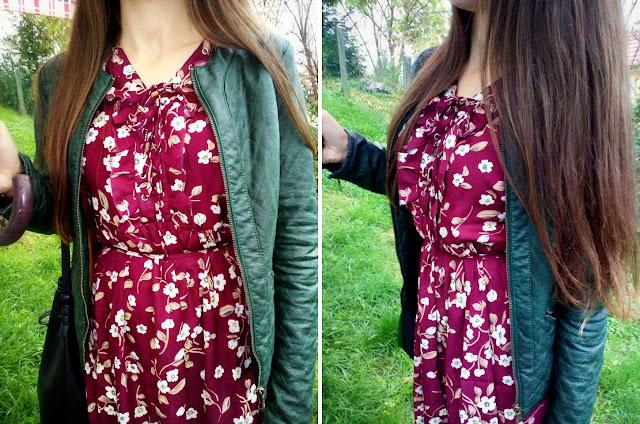 dresslily recenzija, moje iskustvo s dresslily online trgovinom, pozitno iskustvo, dresslily odjeća, haljina, vintage, dresslily suradnja, stradivarius zelena kožna jakna