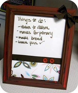 Handy Husband Crafty Wife Picture Frame Dry Erase Board