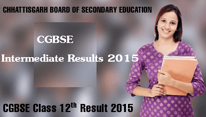 CGBSE 12th Results 2016 Intermediate