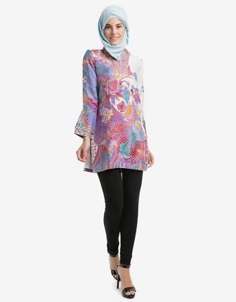 Contoh Baju Batik Wanita Kantor Elegan