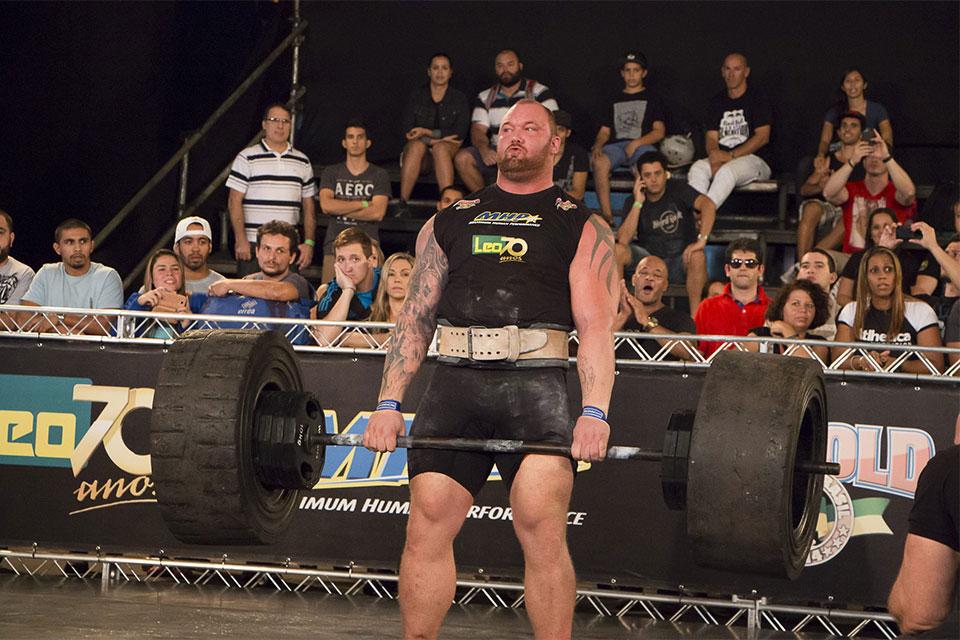 Hafthor Björnsson disputa o Strongman Pro no Arnold Classic Brasil 2015. Foto: Divulgação