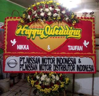 Bunga Papan Happy Wedding (WS-136)