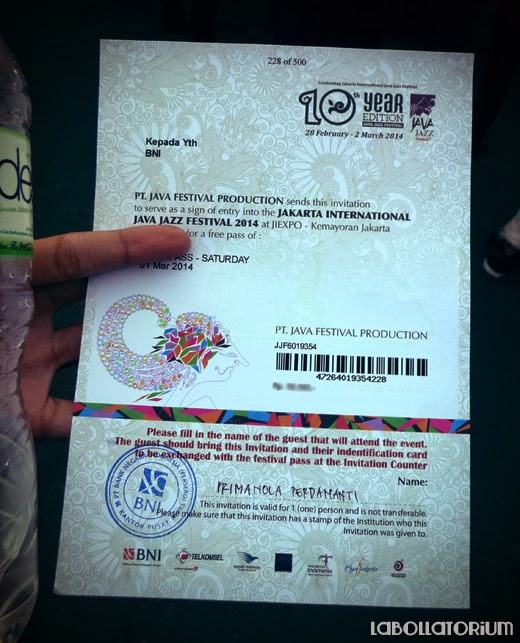 International Java Jazz Festival 2014 Invitation