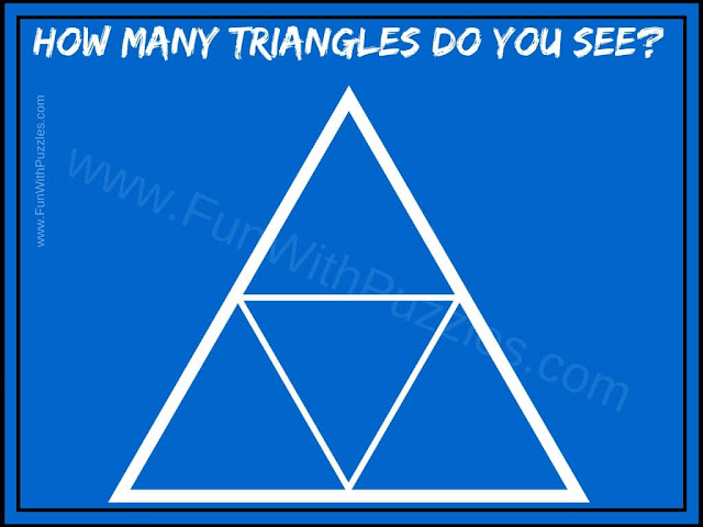 How Many Triangles do you see puzzle