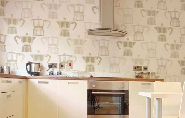 mutfak araç gereçli duvar kağıdı modelleri