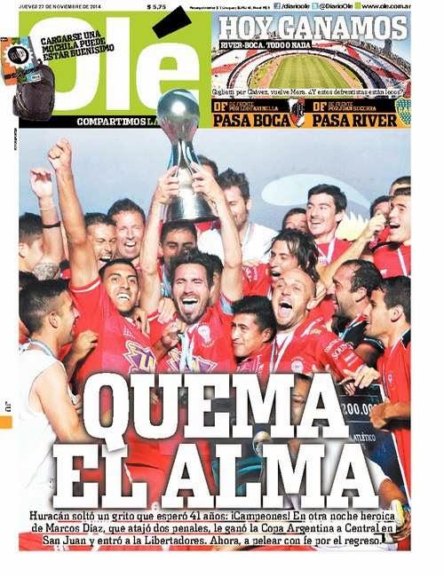 Copa Argentina 2013 4  la primera de las doce estrellas que ganó el Club  Atlético Huracán que fue filmada en colores (las otras lo fueron en blanco  y negro) ... b85666d2888cc